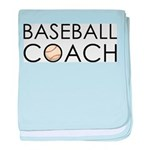 Baseball Coach baby blanket