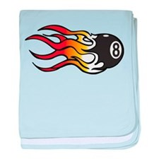 Flaming Eight Ball baby blanket