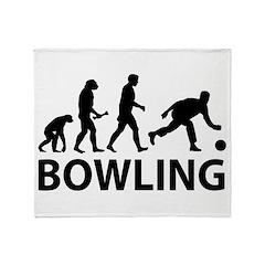 Bowling Evolution Throw Blanket