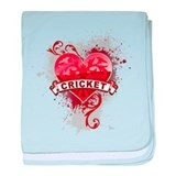 Heart Cricket baby blanket