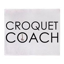 Croquet Coach Throw Blanket