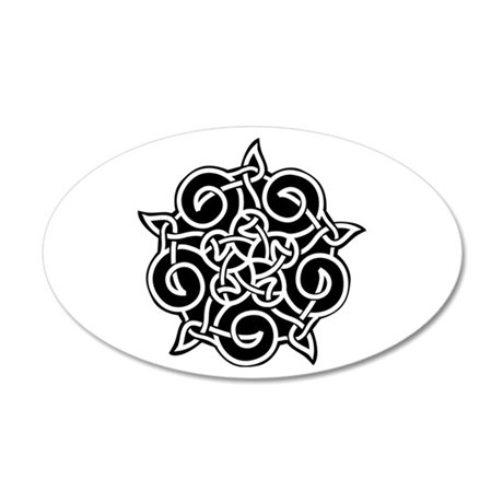 Celtic Knotwork Pentagram 38.5 x 24.5 Oval Wall Pe