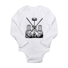Hand Sketched Croquet Long Sleeve Infant Bodysuit