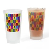 Pop Art Cycling Pint Glass