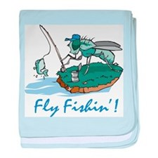Fly Fishing baby blanket
