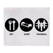 Eat Sleep Foosball Throw Blanket