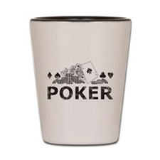 Vintage Poker Shot Glass