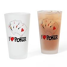 I Love Poker Pint Glass