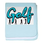 Golf baby blanket