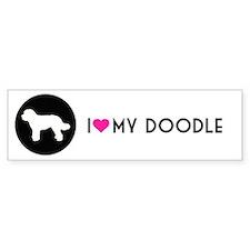 Love My Doodle Black Bumper Bumper Sticker