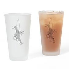 Ice Skating Pint Glass