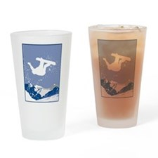 Snowboarding Pint Glass
