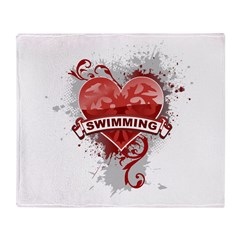 Heart Swimming Throw Blanket