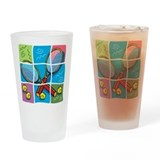 Tennis Puzzle Pint Glass