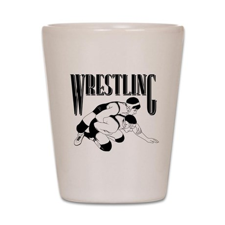 Wrestling Shot Glass