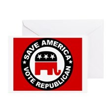 SAVE AMERICA Greeting Cards (Pk of 20)