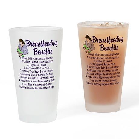 Breastfeeding Benefits Drinking Glass