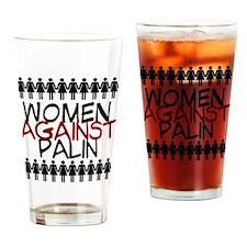 Women Against Palin Drinking Glass