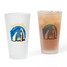 Nativity Scene Pint Glass