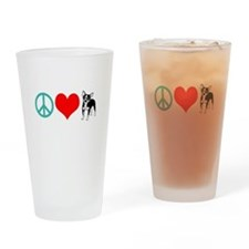 Peace Love Chihuahua Pint Glass