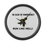 Incase of Emergency Large Wall Clock
