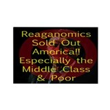 Reaganomics Sold Out America Rectangle Magnet