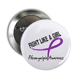 Fight Like A Girl Fibromyalgia 2.25&quot; Button (10 pa
