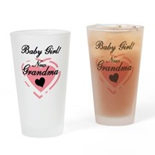 Baby Girl New Grandma Pint Glass