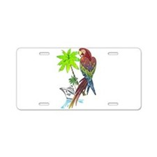 Parrot Tropical Cruise Aluminum License Plate