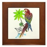 Parrot Tropical Cruise Framed Tile