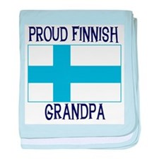 Proud Finnish Grandpa baby blanket
