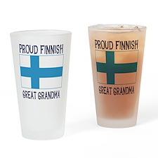 Finnish Great Grandma Pint Glass