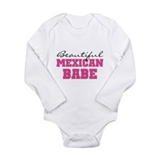 Mexican Babe Long Sleeve Infant Bodysuit