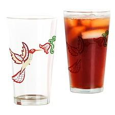 Lace Hummingbird Pint Glass