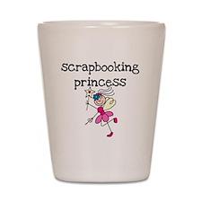 Scrapbooking Princess Shot Glass