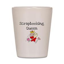 Scrapbooking Queen Shot Glass