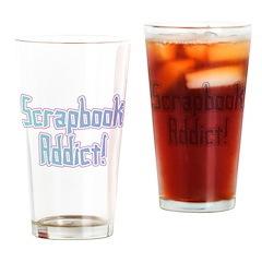 Scrapbook Addict Pint Glass