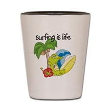 Surfing Is Life Shot Glass