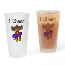 Cheerleader Purple and Gold Pint Glass