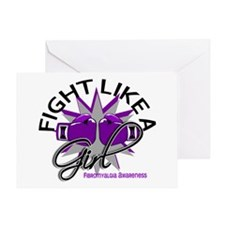 Fight Like A Girl Fibromyalgia Greeting Card