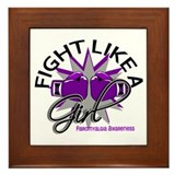 Fight Like A Girl Fibromyalgia Framed Tile