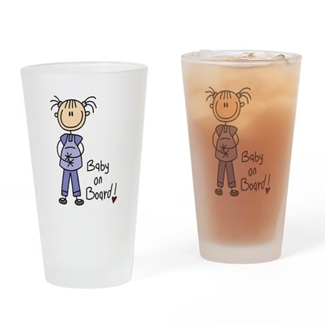 Baby on Board Pint Glass