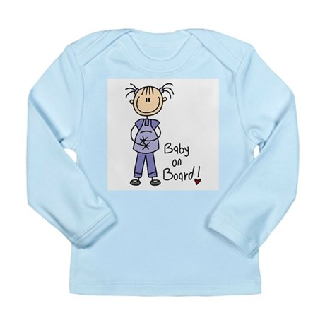 Baby on Board Long Sleeve Infant T-Shirt