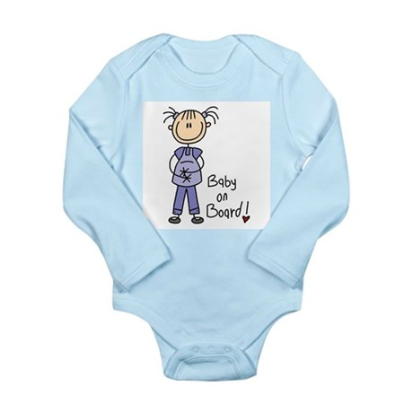 Baby on Board Long Sleeve Infant Bodysuit