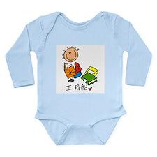 I Read Long Sleeve Infant Bodysuit