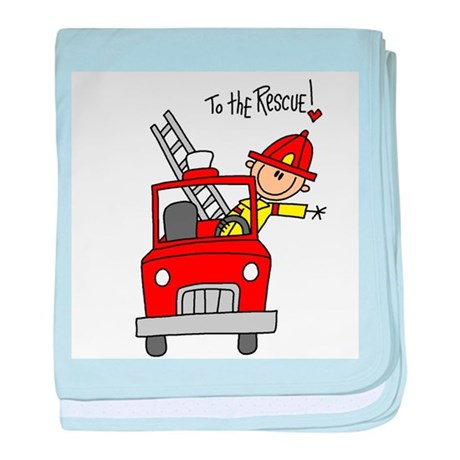 Firefighter Rescue baby blanket