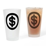 US Dollar Sign Icon Pint Glass