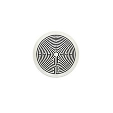 Medieval Labyrinth Symbol Mini Button (10 pack)