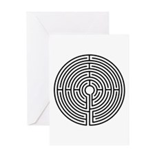 Medieval Labyrinth Symbol Greeting Card
