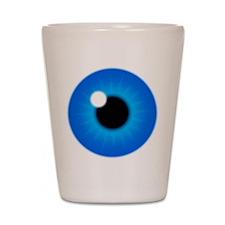 Blue Eye Iris and Pupil Shot Glass